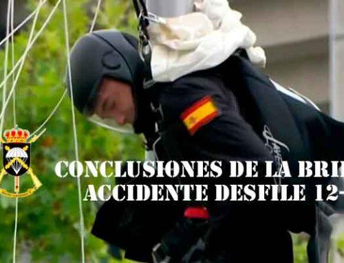 Conclusiones de la Bripac sobre el accidente paracaidista en el Desfile del 12 de Octubre de 2019
