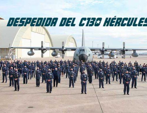 Despedida del avión de transporte C-130 Hércules del Ejército del Aire