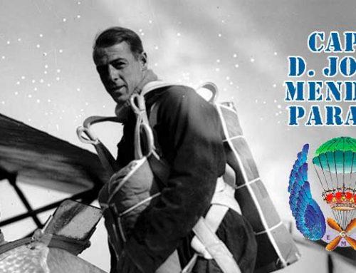 Primer paracaidista militar de España: Cap. D. José Antonio Méndez Parada