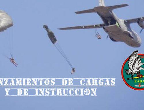 """EADA: lanzamientos de Instrucción y Cargas"""" del Ejército del Aire español"""