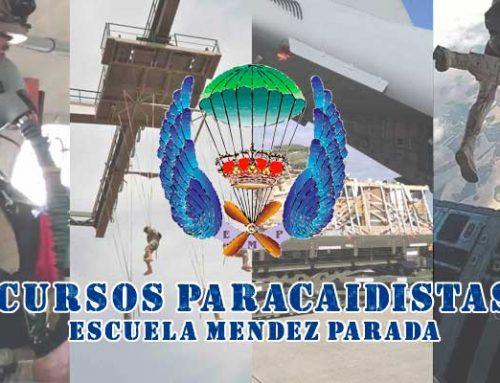 Cursos paracaidistas en la Escuela Militar de Paracaidismo Méndez Parada