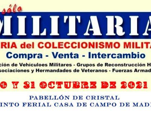 Feria Militaria de Madrid 30-31 de octubre de 2021